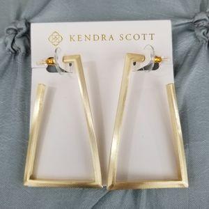 Gold, Kendra Scott, Easton, Hoop Earrings
